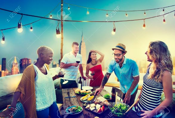 44736842-diverse-summer-party-rooftop-fun-concept